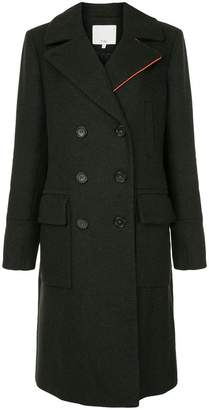 Tibi felted double breasted overcoat