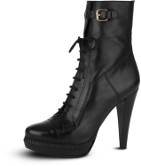 Bridle Leather Lace Up Ankle Boot