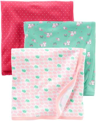 Carter's Simple Joys by Baby Girls' 3-Pack Cotton Swaddle Blanket