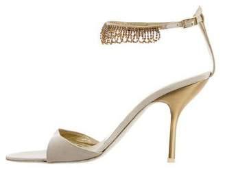 Giuseppe Zanotti Crystal-Embellished Ankle Strap Sandals