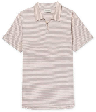 Oliver Spencer Hawthorn Striped Cotton-Jersey Polo Shirt