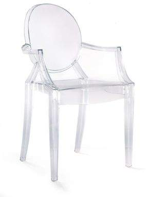 Kartell Two-Piece Louis Ghost Armchairs