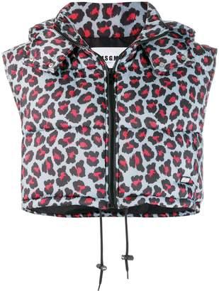 MSGM leopard-print gilet