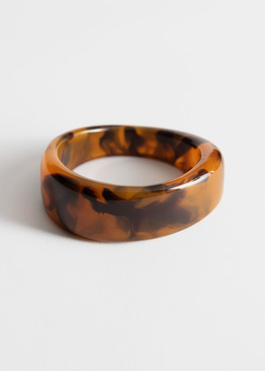 And other stories Tortoise Resin Cuff Bracelet