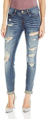 dollhouse Women's Destructed Roll up Skinn Jean $21.71 thestylecure.com