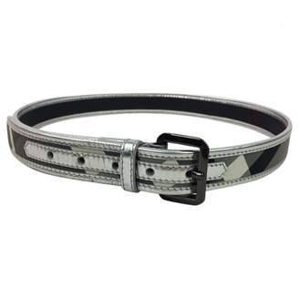 Burberry Silver Patent leather Belts