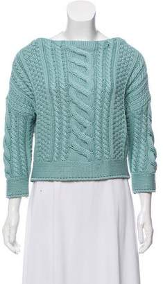 Max Mara Cropped Cable Knit Sweater