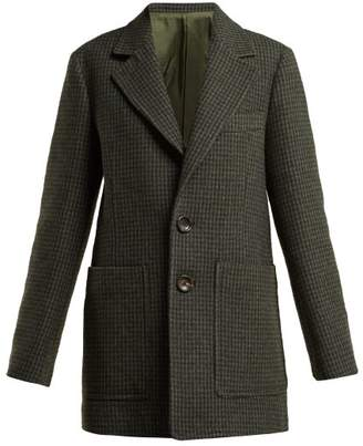 Joseph Marko Houndstooth Tweed Jacket - Womens - Grey Multi