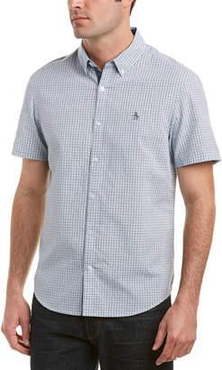 Original Penguin Geometric Dobby Heritage Slim Fit Woven Shirt