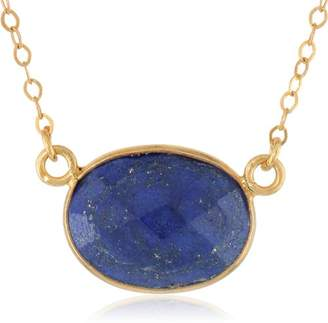 Lapis Gold-Plated Sterling Silver Lazuli Pendant Necklace
