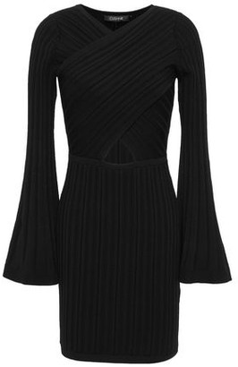 Cushnie Cutout Ribbed-knit Mini Dress