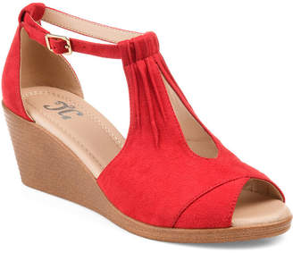 Journee Collection Womens Jc Kedzie Wedge Sandals