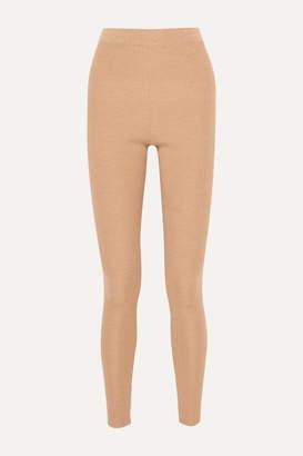 Jil Sander Ribbed Wool Leggings - Tan