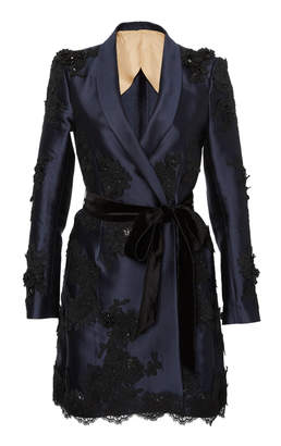 Marchesa Tailored Silk Mini Dress