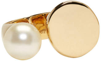 Chloé Gold Large Darcey Round Pearl Ring