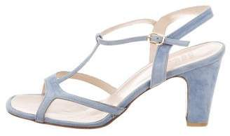 Maryam Nassir Zadeh Suede & PVC T-Strap Sandals