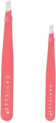 Danielle Enterprises Soft Touch Duo Tweezer Set, Coral