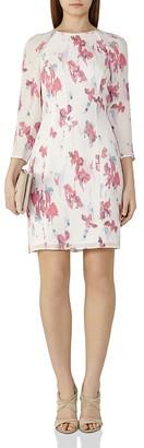 REISS Kami Floral-Printed Silk Dress $370 thestylecure.com