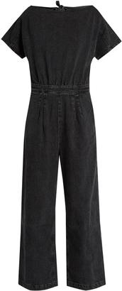 RACHEL COMEY Utila open-back denim jumpsuit $450 thestylecure.com