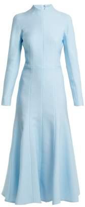 Emilia Wickstead Amanda Cloque Dress - Womens - Light Blue