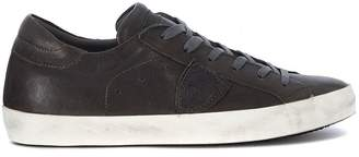Philippe Model Paris West Anthracite Leather Sneaker