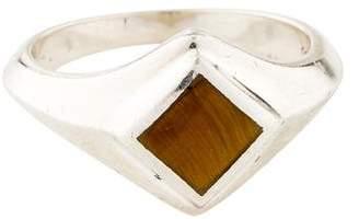 Pamela Love Tiger's Eye Apex Inlay Signet Ring