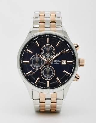 Sekonda Watch In Mixed Metal Stainless Steel