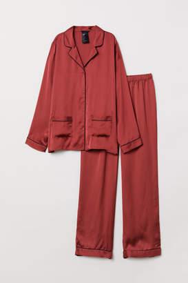 H&M Pajama Shirt and Pants - Red