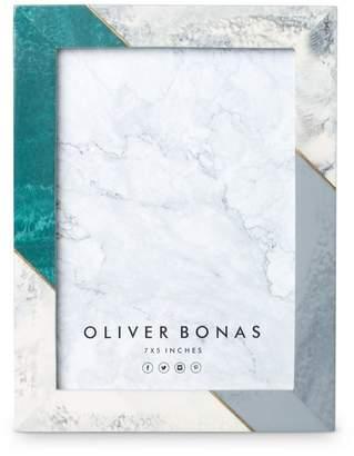 Oliver Bonas Modena Green Colour Block Standing Frame 5x7