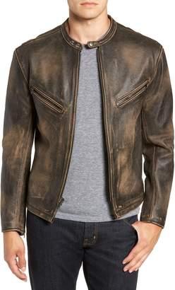 Frye Calfskin Leather Racer Jacket