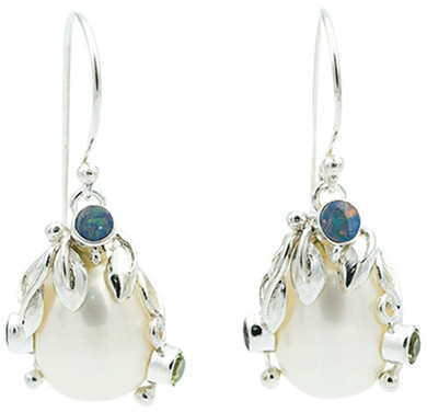 Exex Design Jewelry Sterling Silver Branford 12-14mm Pearl Drop Earrings
