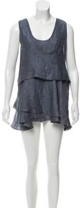 Marissa Webb Linen Ruffled Dress