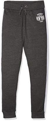 New Look 915 Girl's Bronx Side Stripe Jogger Sports Pants,(Manufacturer Size: 134)