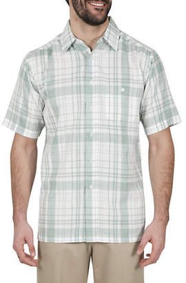 Haggar Plaid Short-Sleeve Sport Shirt