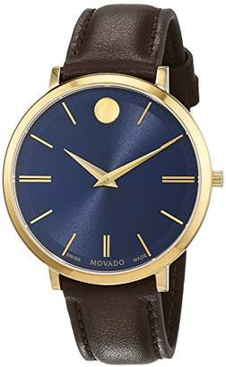 Movado Womens Analogue Classic Quartz Watch with Leather Strap 607092