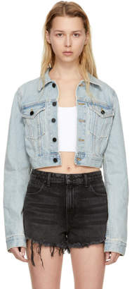 Alexander Wang Blue Shrunken Cropped Denim Jacket