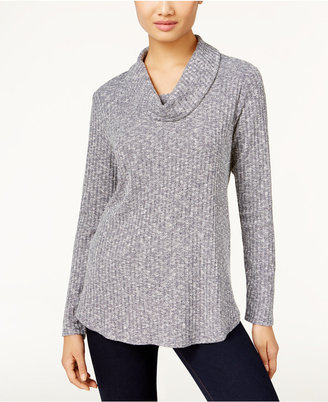 Style & Co. Ribbed Cowl-Neck Top, Only at Macy's $46.50 thestylecure.com