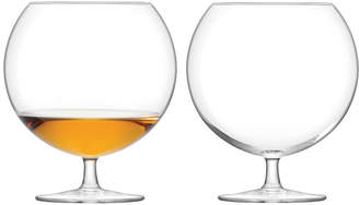 LSA International Olivia Cognac Glass - Clear - Set of 2