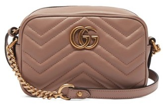 Gucci Gg Marmont Mini Quilted Leather Cross Body Bag - Womens - Nude