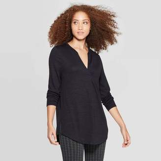 A New Day Women's Any Day Casual Fit Long Sleeve V-Neck Tunic