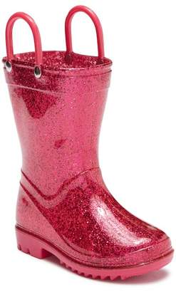 LILLY OF NEW YORK Pink Glitter Rainboot (Toddler)