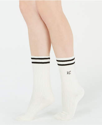 Polo Ralph Lauren Striped Cable-Knit Boot Socks