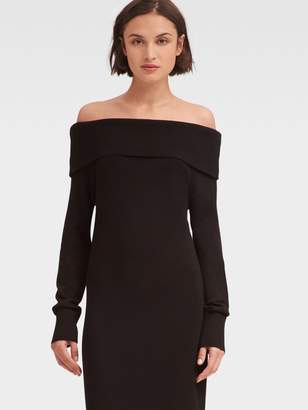 DKNY Off-The-Shoulder Sweater Dress