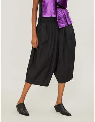 Comme des Garcons Comme Drawstring-waist twill harem trousers