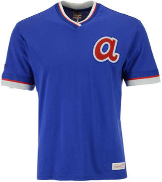 Mitchell & Ness Men's Atlanta Braves Coop Overtime Vintage Top