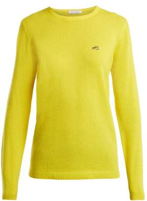 Bella Freud Round Neck Cashmere Sweater - Womens - Yellow
