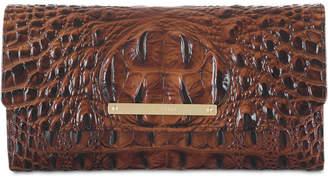 Brahmin Melbourne Soft Checkbook Embossed Leather Wallet