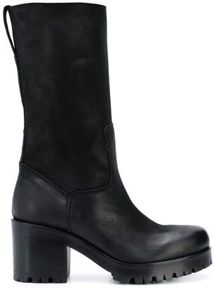 Strategia chunky heel knee boots
