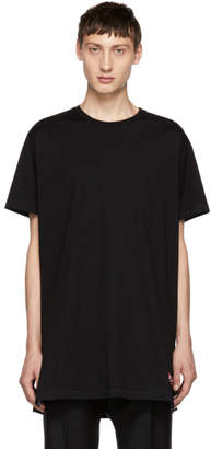 Givenchy Black Oversized Vented T-Shirt