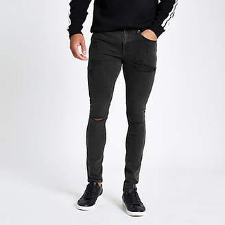 River Island Black Danny super skinny spray on jeans